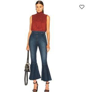 FRAME Flounce Side Flare Jeans